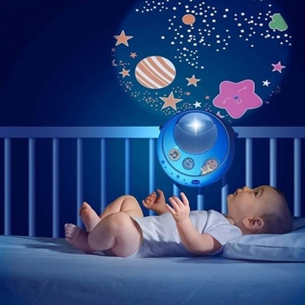 Мобиль для кровати Волшебные звезды голубая