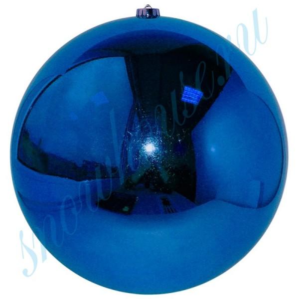 Шарик 25 см синий глянец
