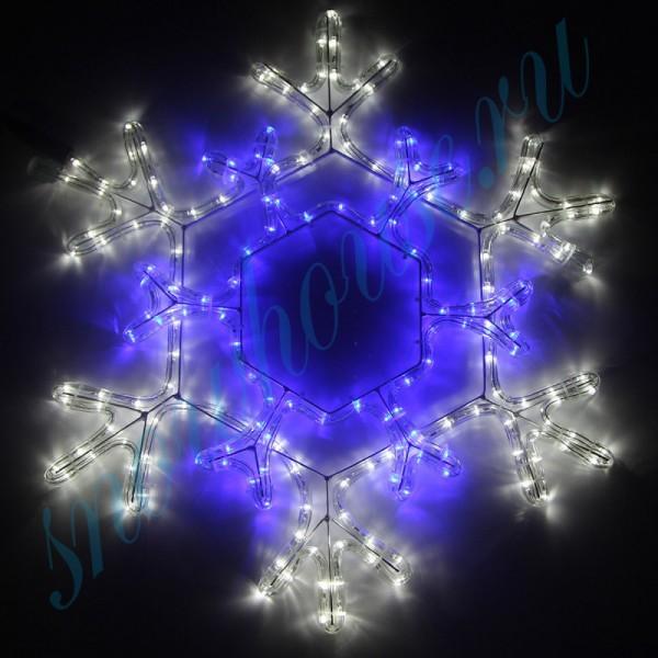 Фигура из дюралайта Снежинка декоративная RL270-SF-B/W