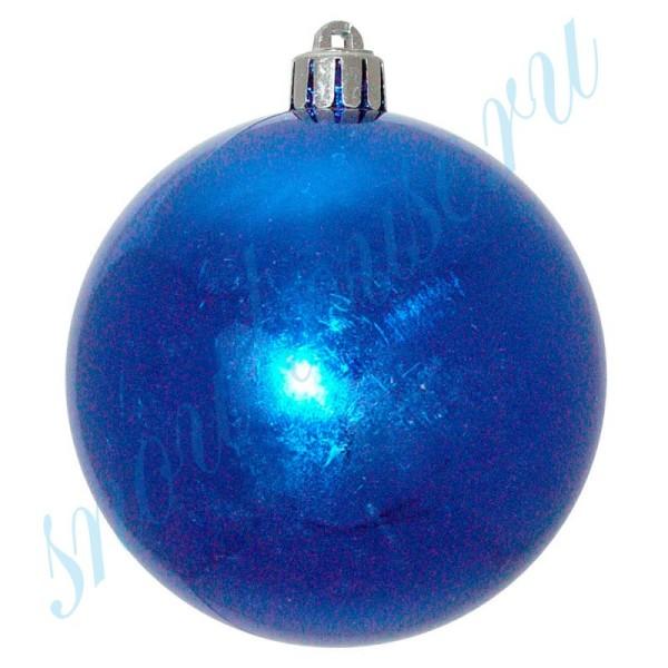 Шарики 8 см синие глянец