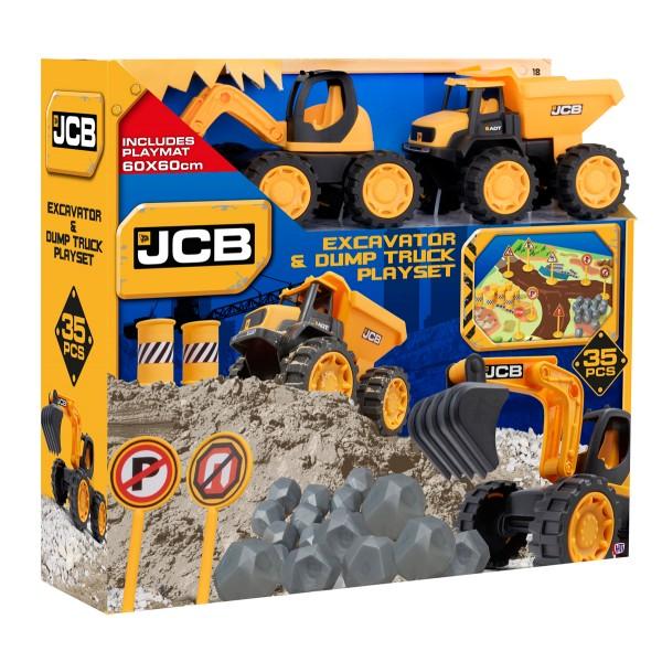 Игровой Набор JCB 2 машинки 18 см с аксессуарами 1416419 HTI