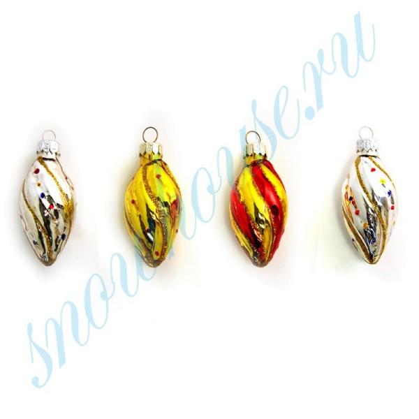 Набор Шишки, 4 шт, разноцветные