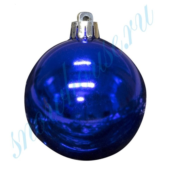Шарики 6 см синие глянец