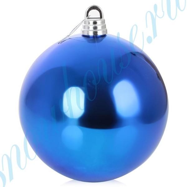 Шарик 30 см синий глянец