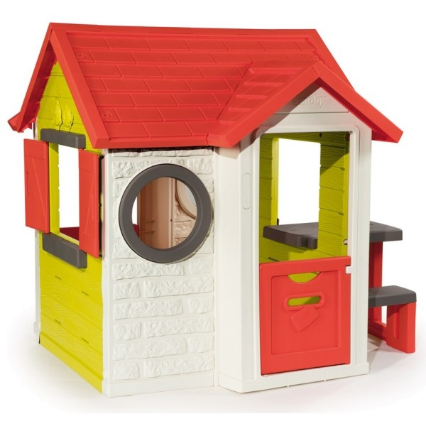 Игровой детский домик со столом и звонком Smoby 810401