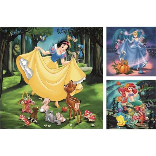 """09339 Ravensburger Набор пазлов """"Принцессы Диснея"""" - Белоснежка, Ариель и Золушка, 3 х 49 эл."""