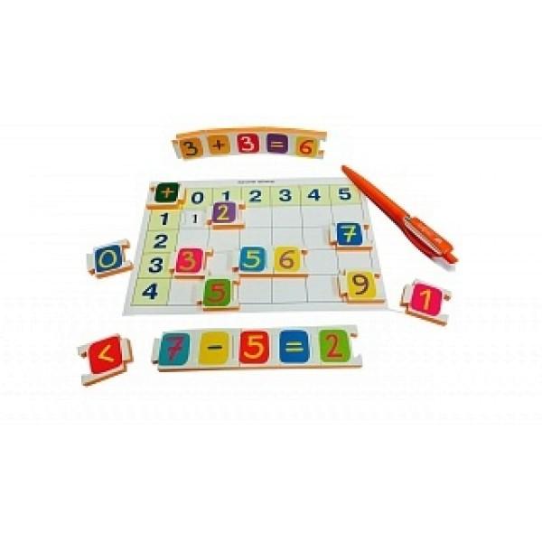 65008m АЙРИС-ПРЕСС Обучающие карточки Мягкие игры - Касса цифр с игровыми полями