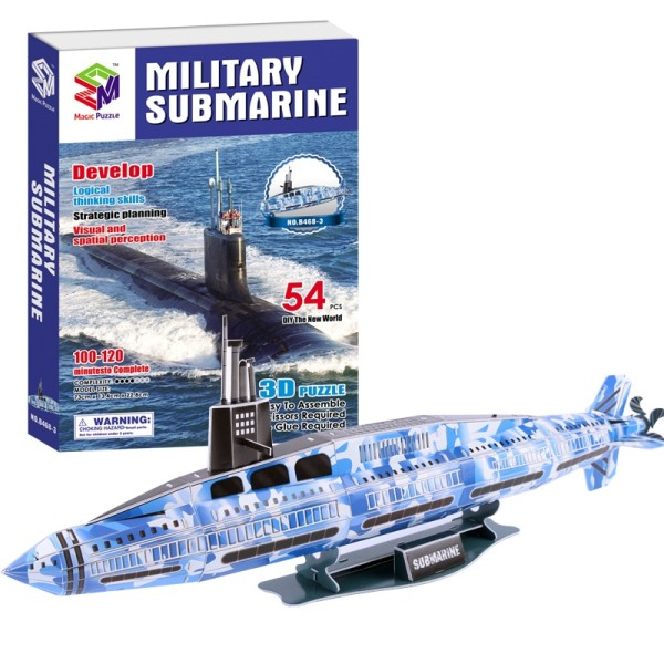 B468-3 SиS Toys 3D-пазл Военная субмарина