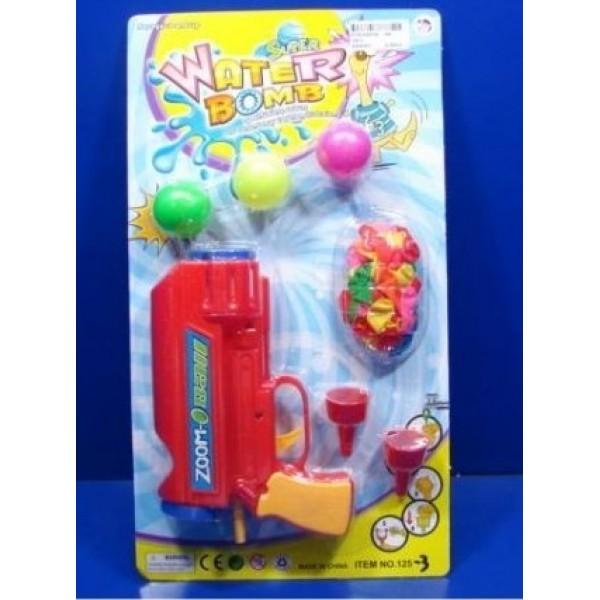 Ружье стреляет шарами и водяными бомбочками