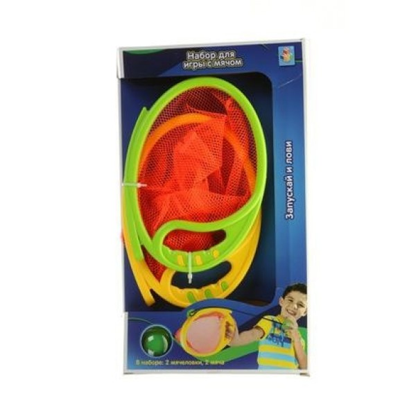 Т59924 1 toy Мячеловка и 2 мяча в кор.