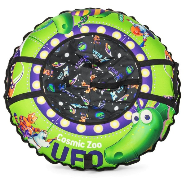 472064 Small Rider Надувные санки-ватрушка (тюбинг) UFO (зеленый динозаврик)