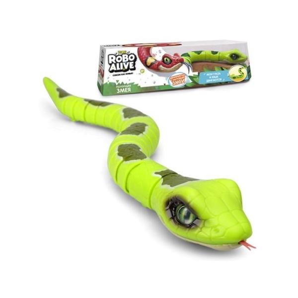 Игрушка Робо-змея Robo Alive зеленая Т10995 Zuru