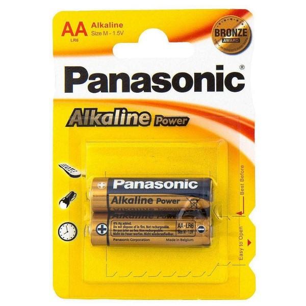 5410853042259 PANASONIC Батарейка щелочная LR6 (AA) Alkaline 1.5В бл/2