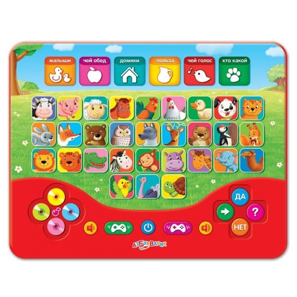 Игровой планшетик Умничка Зоовикторина, 4680019280318 Азбукварик
