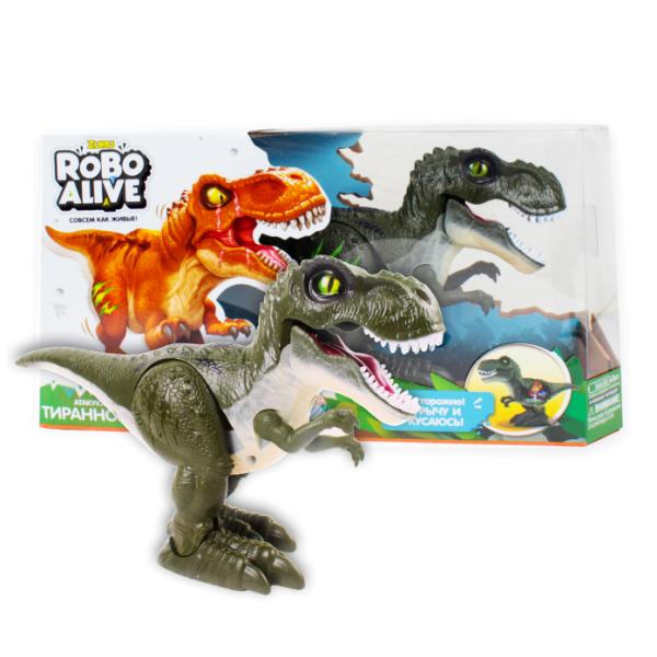 Игрушка Робо- Тираннозавр RoboAlive, зеленый, Т13693 Zuru