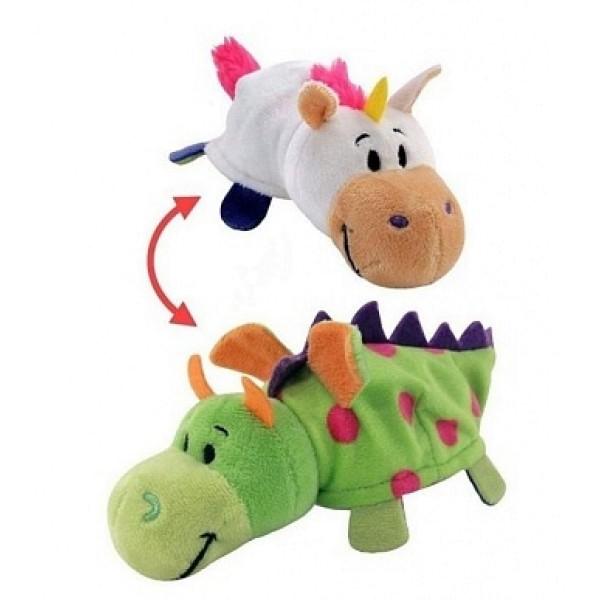 Мягкая игрушка Вывернушка 2 в 1 Единорог-дракон 35 см Т10927 1toy