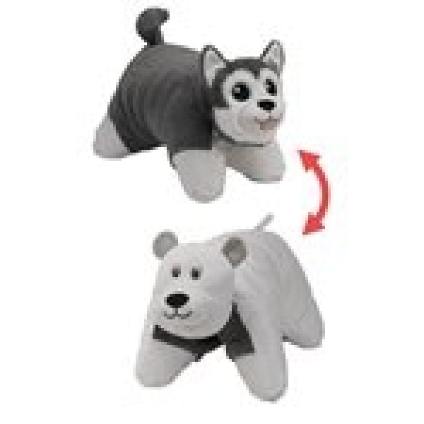 Подушка Вывернушка 2в1 Хаски-Полярный Медведь Т12043 1toy