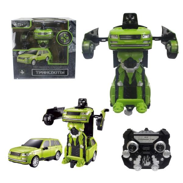 Робот - трансформер на р/у - Джип 20 см зелёный Т10866 1toy