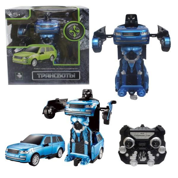 Робот на р/у трансформирующийся в джип 20 см синий Т10865 1toy