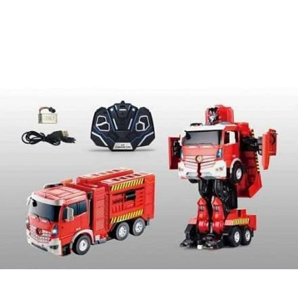 Игрушка-трансформер р/у Робот-машина - Пожарная машина 38см Т11023 1toy