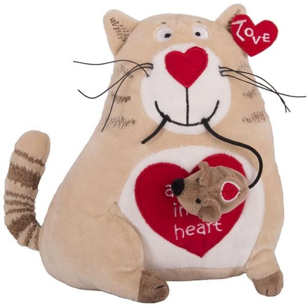 Кот и мышь «Любовь с первого взгляда», 20 см, 51-T78022C Gulliver