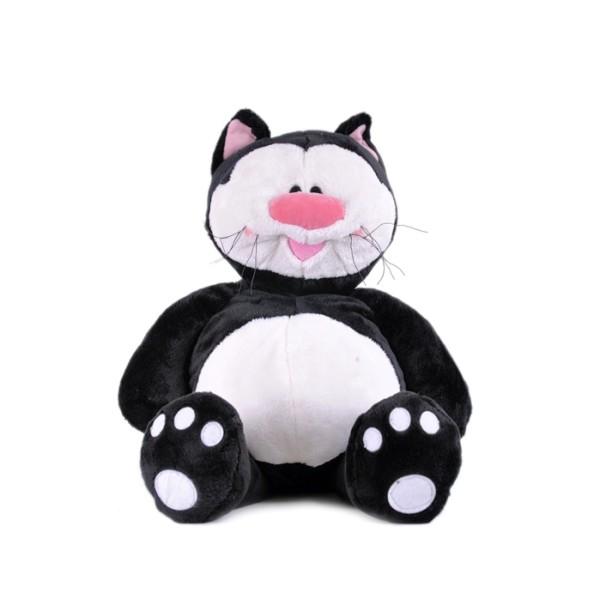 Кот КОТЯ черный сидячий, 71см, 7-43344 Gulliver