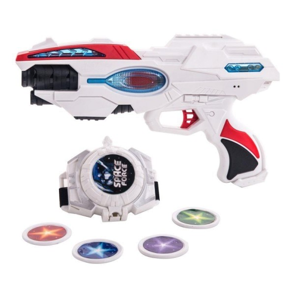 Набор бластер часы звук свет FRBL007 Fun Red