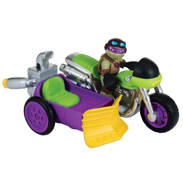 Фигурка Черепашки-ниндзя Донни с мотоциклом серия Half Shell Hero 96702 Playmates