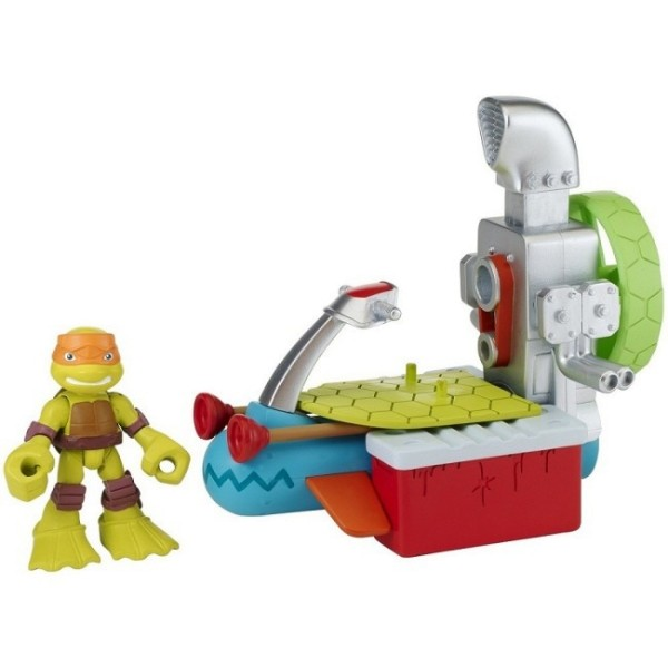 Фигурка Черепашки-ниндзя Майки с гидроциклом серия Half Shell Hero 96703 Playmates