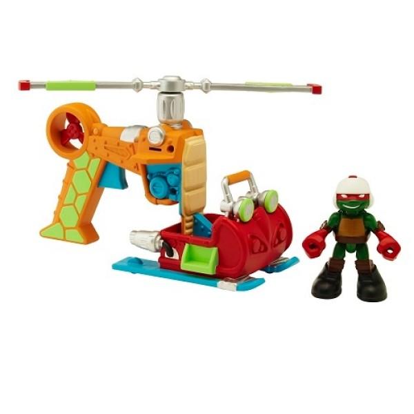 Фигурка Черепашки-ниндзя Раф с вертолетом серия Half Shell Hero 96704 Playmates