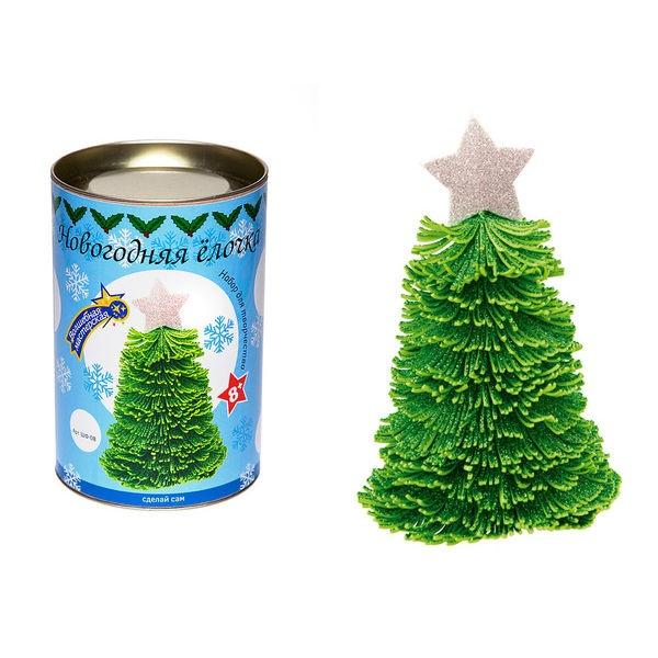 Набор для творчества Новогодняя ёлочка зеленая с серебряной звездой, ШФ-08 ВОЛШЕБНАЯ МАСТЕРСКАЯ