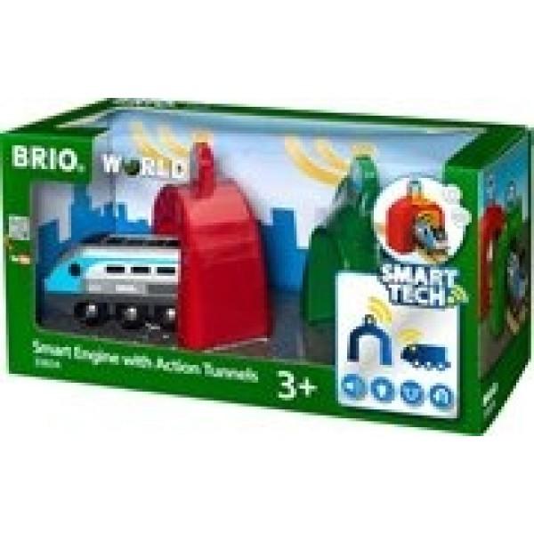 Игровой набор электропоезд и туннели Smart Tech 33834 BRIO