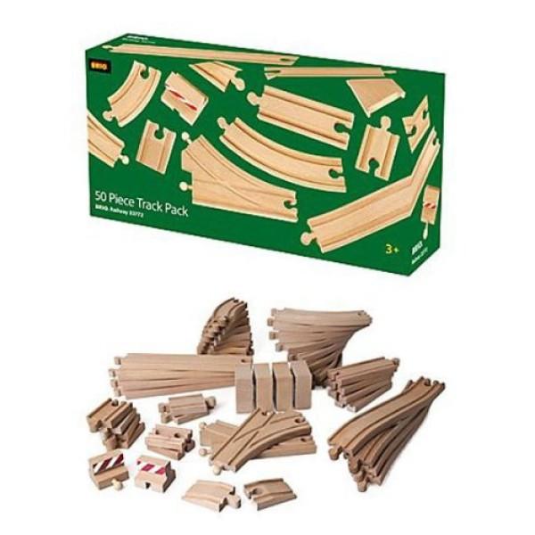 Большой набор деталей для деревянной ж/д 33772 BRIO