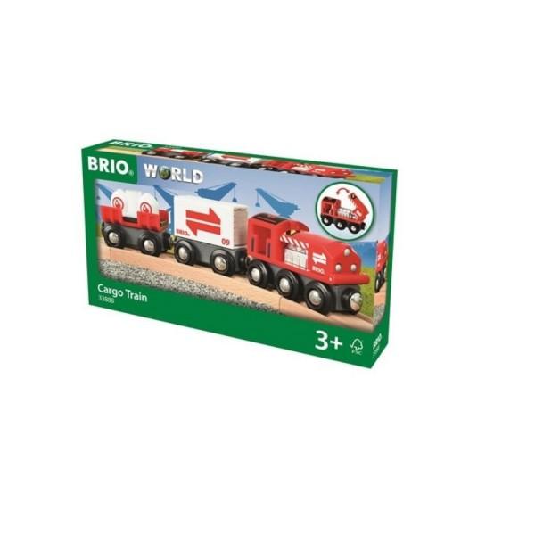 Грузовой поезд деревянной железной дороги 33888 BRIO