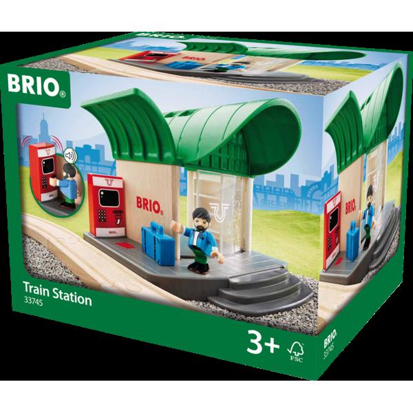 Игровой набор Деревянная ж/д станция с акссесуарами 33745 BRIO