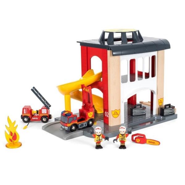 Игровой набор Пожарное отделение деревянной ж/д 33833 BRIO
