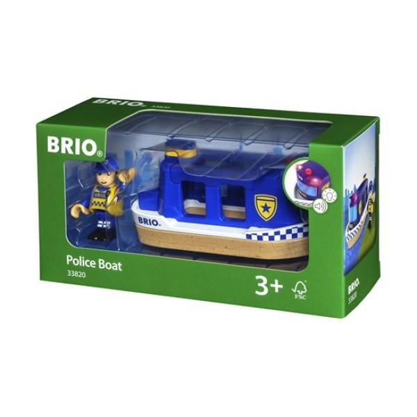 Игровой набор для деревянной ж/д Полицейский катер 33820 BRIO