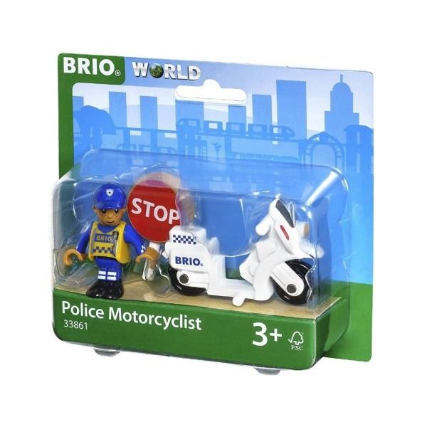 Игровой набор для деревянной ж/д Полицейский мотоцикл 33861 BRIO