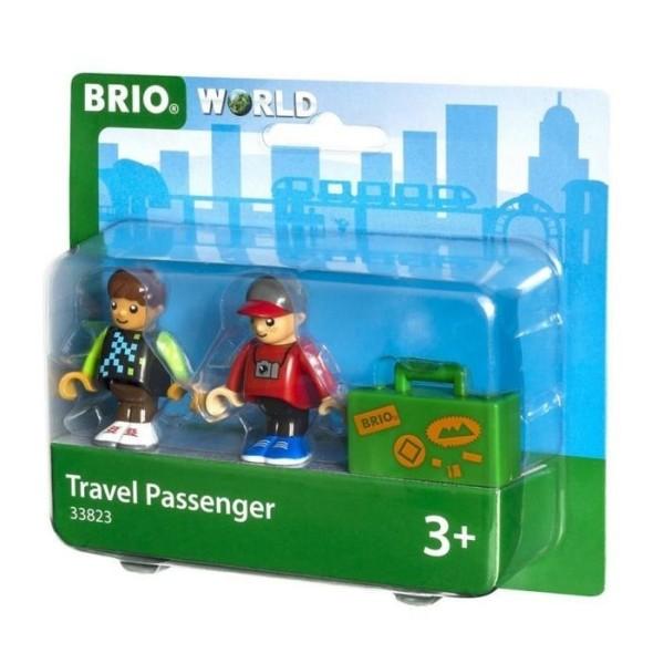 Деревянная ж/д - Набор из 2 фигурок и чемодана 33823 BRIO