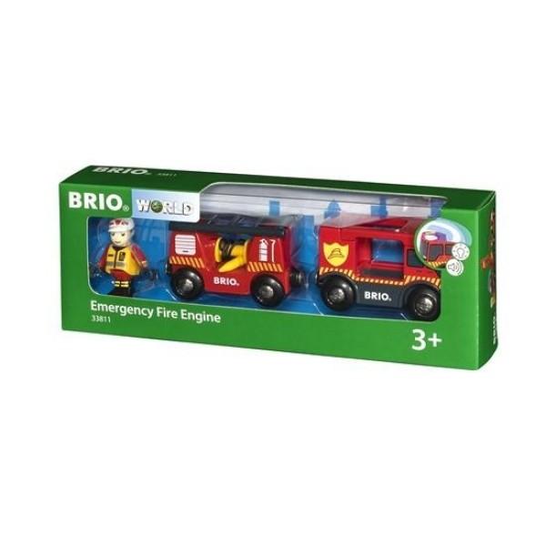 Деревянная ж/д - Инерционная пожарная машина 33811 BRIO