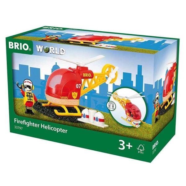 Деревянная ж/д - Спасательный вертолет 33797 BRIO