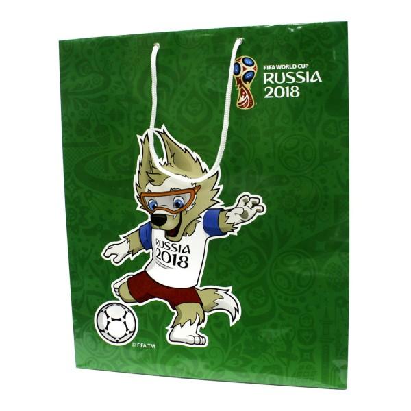 Пакет подарочный FIFA-2018 34х28х9 см 150 гр глянцевый зеленый Т11903 1Toy