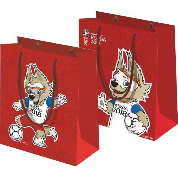 Пакет подарочный FIFA-2018 34х28х9 см 150 гр глянцевый красный Т11904 1Toy