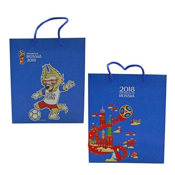 Пакет подарочный FIFA-2018 34х28х9 см 150 гр глянцевый синий Т11905 1Toy