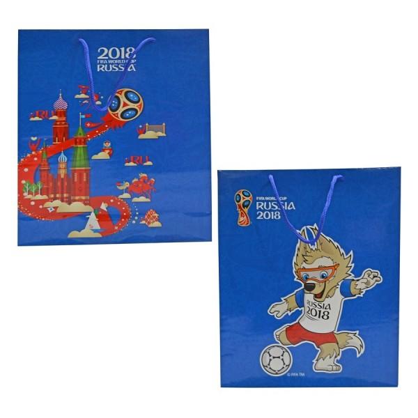 Пакет подарочный FIFA-2018 34х28х9 см 128 гр глянцевый синий Т11910 1Toy