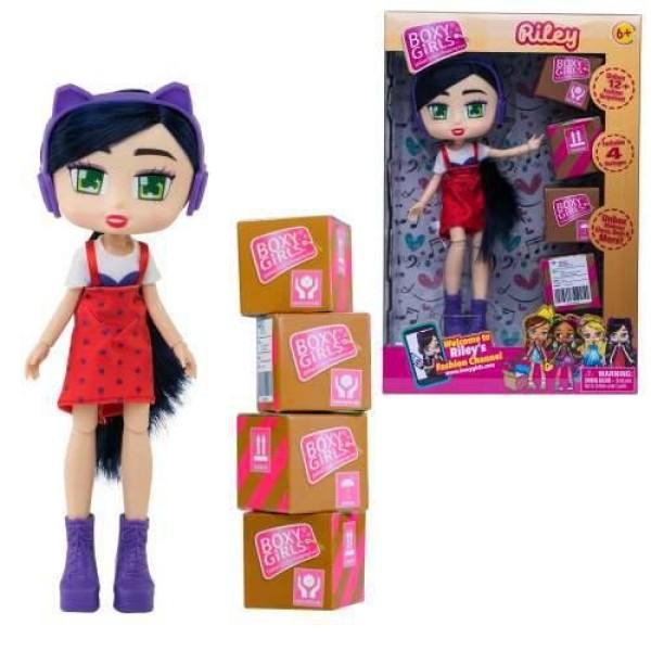 Кукла из серии Boxy Girls Riley с посылками и аксессуарами Т15109 1Toy