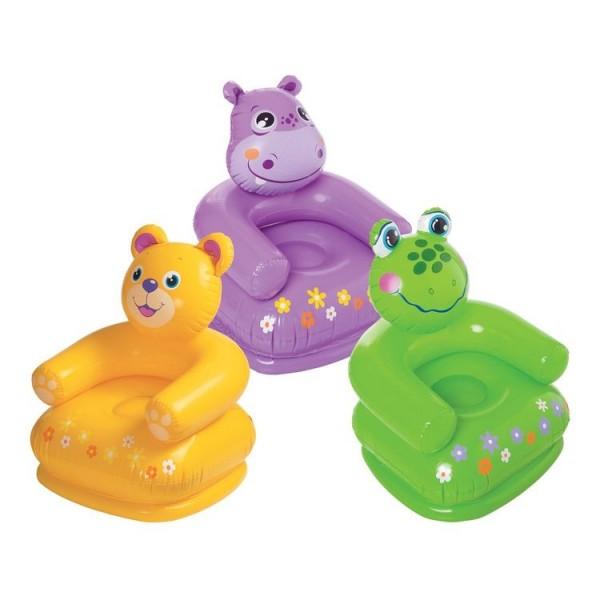 Кресло надувное для детей Животные фигурная спинка 68556 INTEX