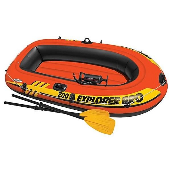 Лодка Исследователь PRO 200 с веслами и насосом 58357 INTEX