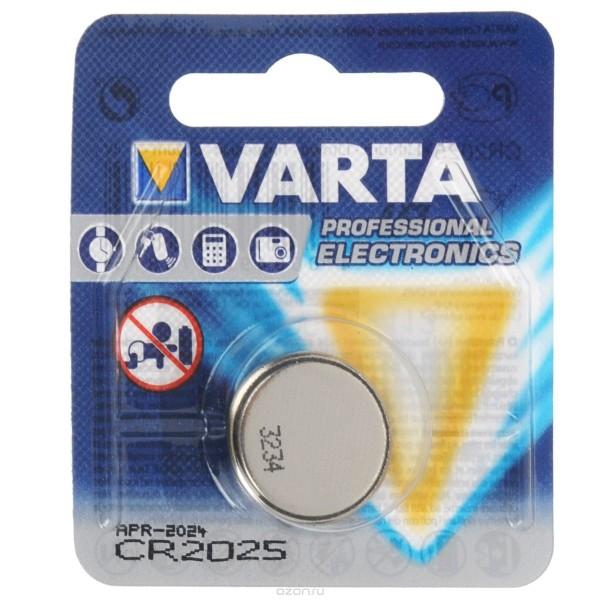 Батарейка литиевая VARTA CR2025 Professional Electronics дисковая 3В бл/1