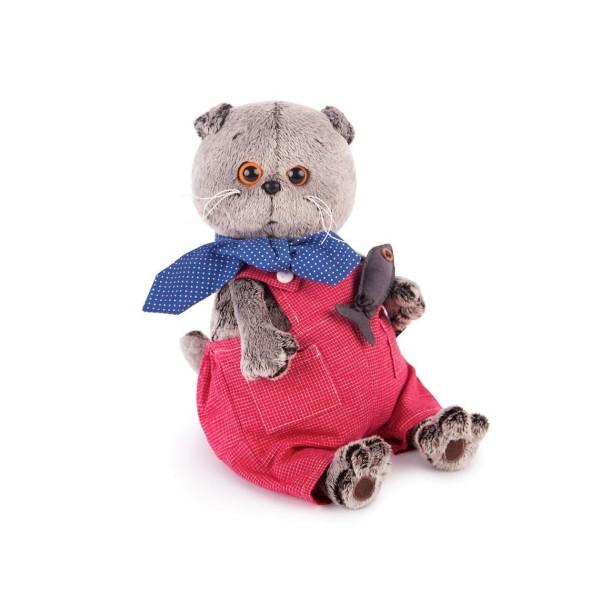 Мягкая игрушка Басик в красном комбинезоне 19см, Ks19-066 BUDI BASA
